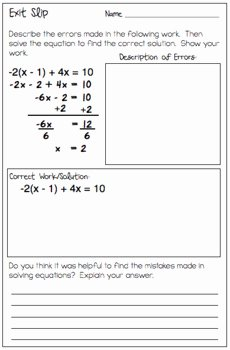 Multi Step Equations Worksheet Pdf Elegant Multi Step Equations Find and Fix the Errors Worksheet