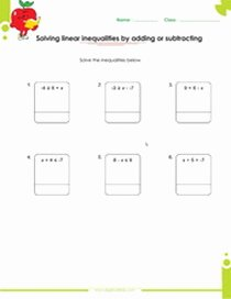 Multi Step Inequalities Worksheet Best Of solving One Two and Multi Step Inequalities Worksheets