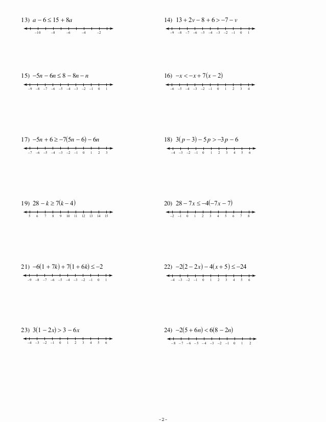 Multi Step Inequalities Worksheet Fresh 4 4 Multi Step Inequalities