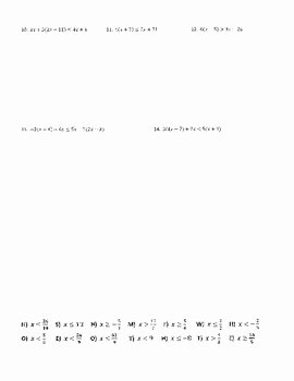 Multi Step Inequalities Worksheet Inspirational solving Multi Step Inequalities Joke Worksheet with Answer