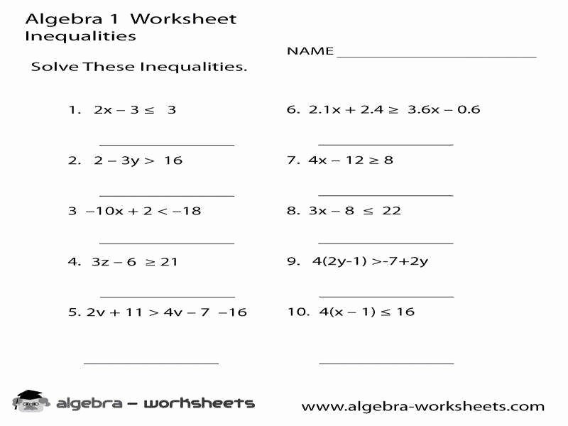 Multi Step Inequalities Worksheet Lovely Multi Step Inequalities Worksheet