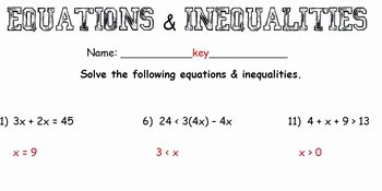Multi Step Inequalities Worksheet Unique Multi Step Equations & Inequalities Worksheet by Chantel