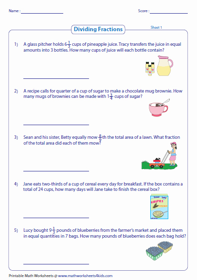 Multiplication Fraction Word Problems Worksheet Inspirational Fraction Word Problems Worksheets