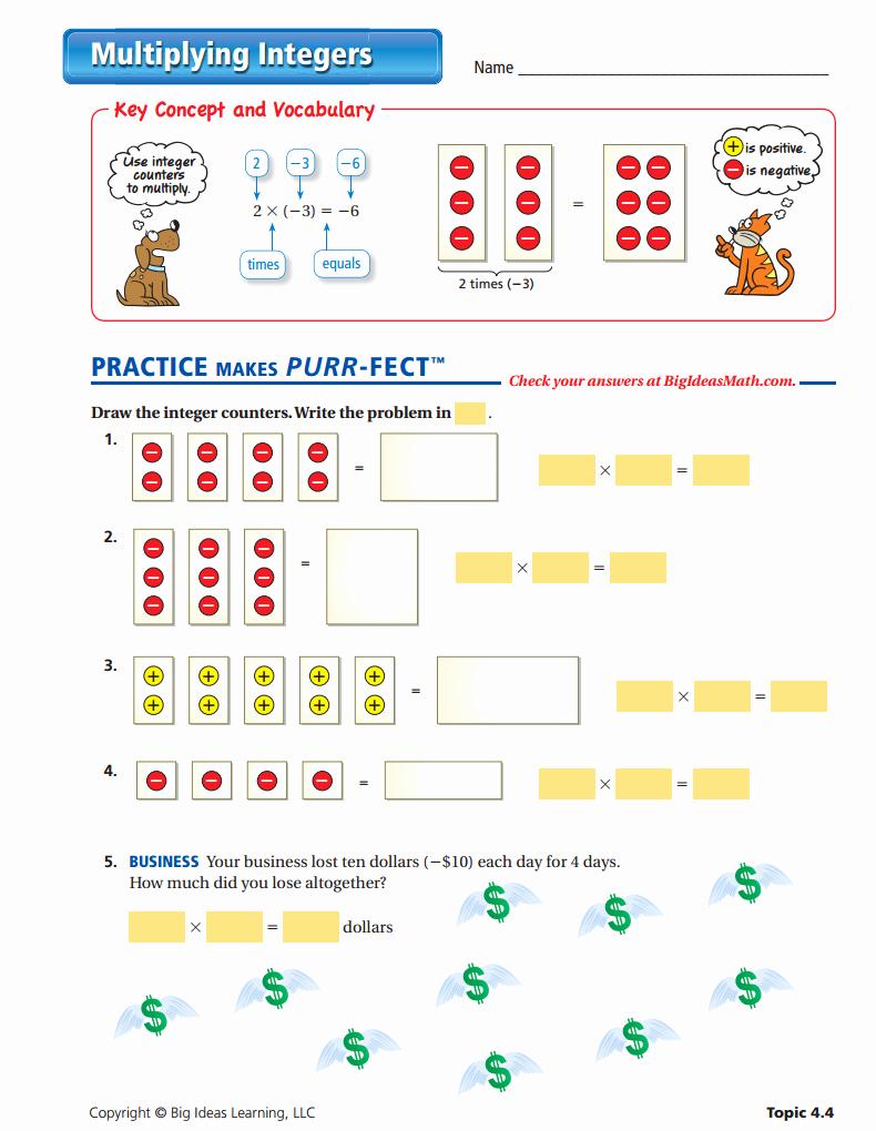 Multiplication Of Integers Worksheet Fresh Pin On Rational Numbers