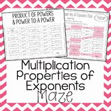 Multiplication Properties Of Exponents Worksheet Elegant Properties Exponents Teaching Resources
