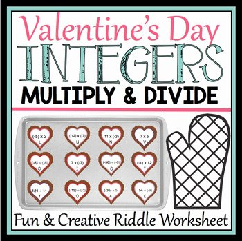 Multiply and Divide Integers Worksheet Best Of Valentine S Day Multiply and Divide Integers Worksheet by