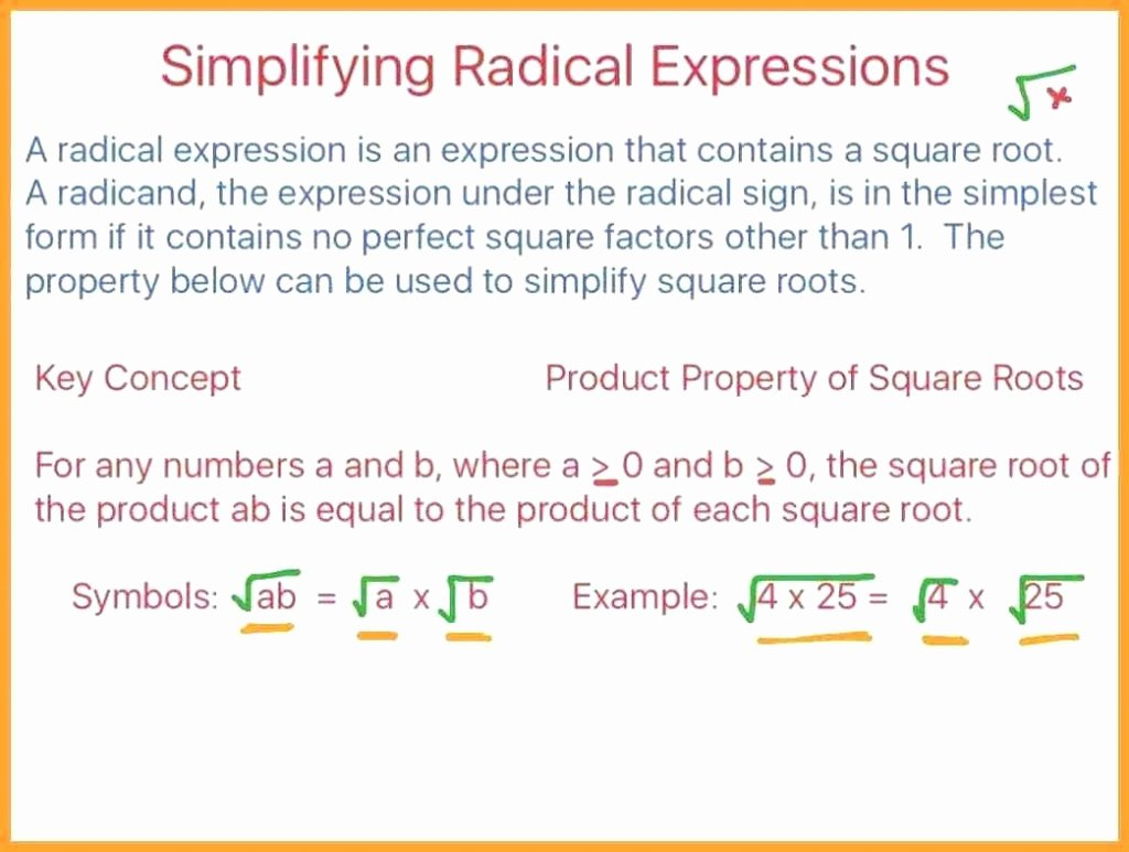 Multiply Radical Expressions Worksheet Inspirational Cool How to Simplify Radical Expressions Math Adding