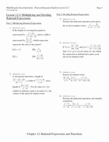 Multiply Rational Expressions Worksheet Luxury Multiplying and Dividing Rational Expressions Worksheet