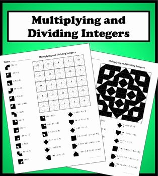 Multiplying and Dividing Integers Worksheet Lovely Multiplying and Dividing Integers Color Worksheet