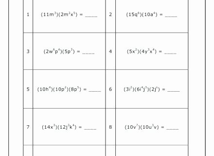 Multiplying and Dividing Monomials Worksheet Awesome Division Of Polynomials by Monomials Worksheet – Dzulfikar