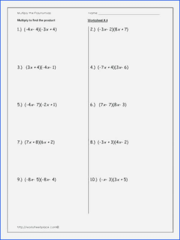 Multiplying and Dividing Monomials Worksheet Fresh Multiplying Monomials Worksheet