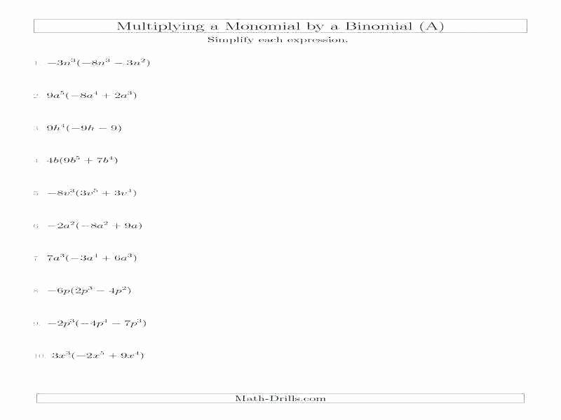 Multiplying and Dividing Monomials Worksheet Unique Division Of Polynomials by Monomials Worksheet – Dzulfikar