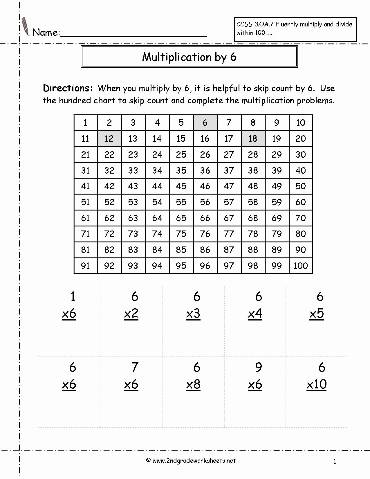 Multiplying by 6 Worksheet Unique Multiplication Worksheets and Printouts