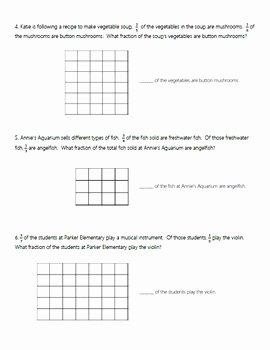 Multiplying Fractions area Model Worksheet Awesome Multiplying Fractions Using area Models Supplement Mon