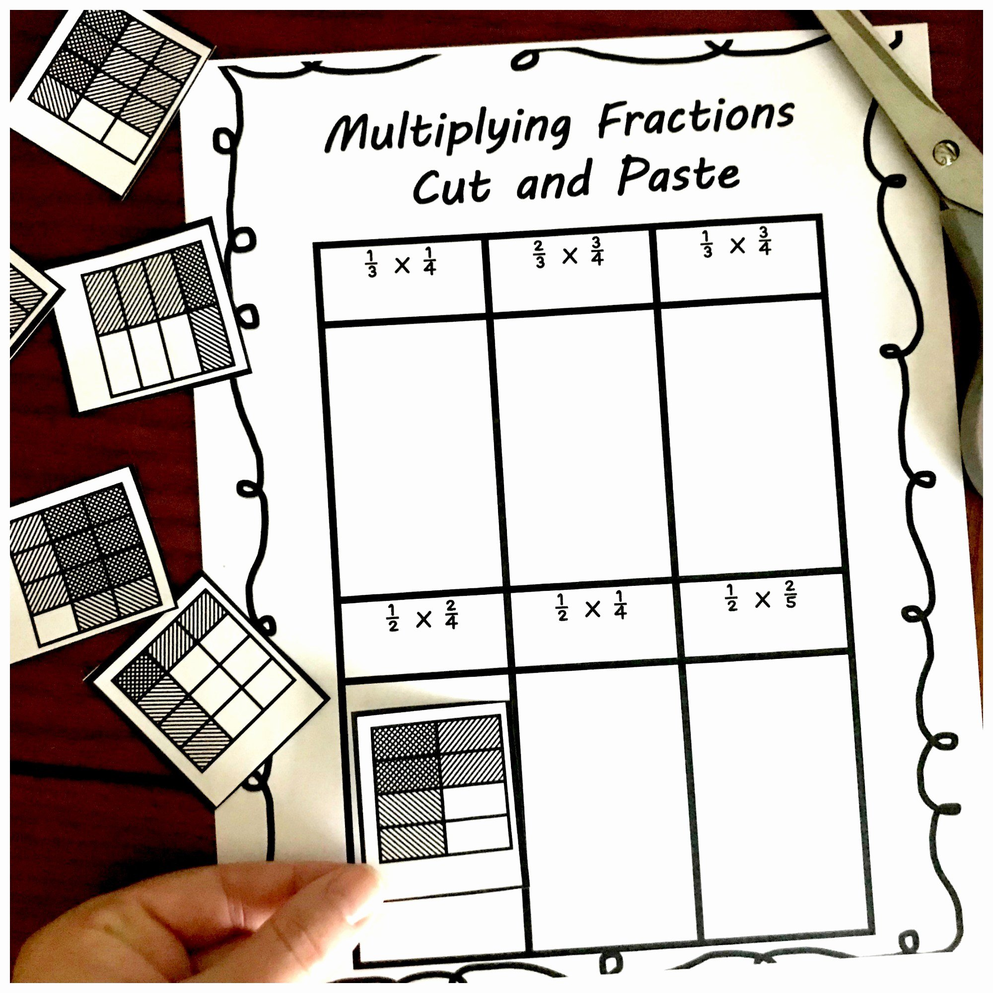 Multiplying Fractions area Model Worksheet Beautiful 3 Cut and Paste Worksheets for Multiplying Fractions Practice