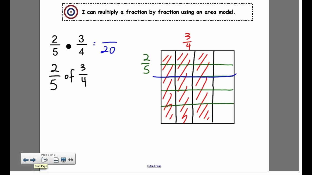 Multiplying Fractions area Model Worksheet Best Of Multiply A Fraction by Fraction Using An area Model 2