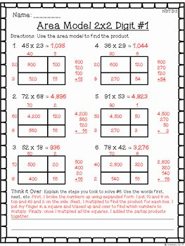Multiplying Fractions area Model Worksheet Fresh 4th Grade Multiplication & Division Worksheet Pack Multi