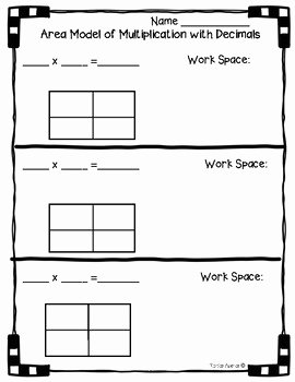 Multiplying Fractions area Model Worksheet Fresh 5 Nbt B 7 area Model with Multiplication Of Decimals