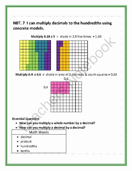 Multiplying Fractions area Model Worksheet Fresh Multiplying Decimals with Models From Tammyharold Ferguson