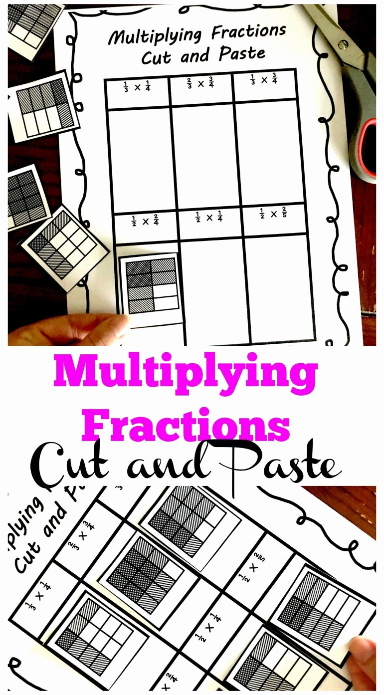Multiplying Fractions area Model Worksheet Inspirational 3 Cut and Paste Worksheets for Multiplying Fractions Practice