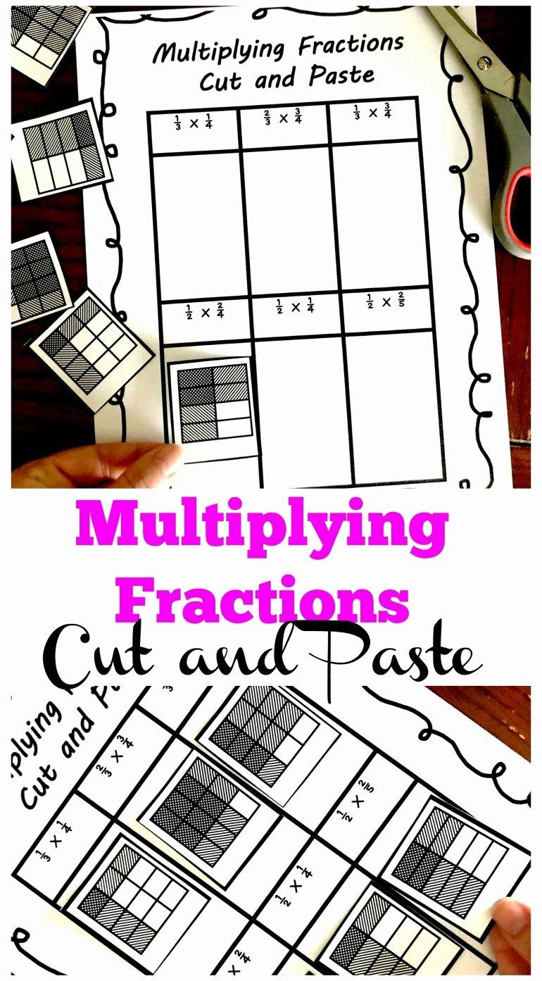 Multiplying Fractions area Model Worksheet Inspirational 3 Cut and Paste Worksheets for Multiplying Fractions Practice