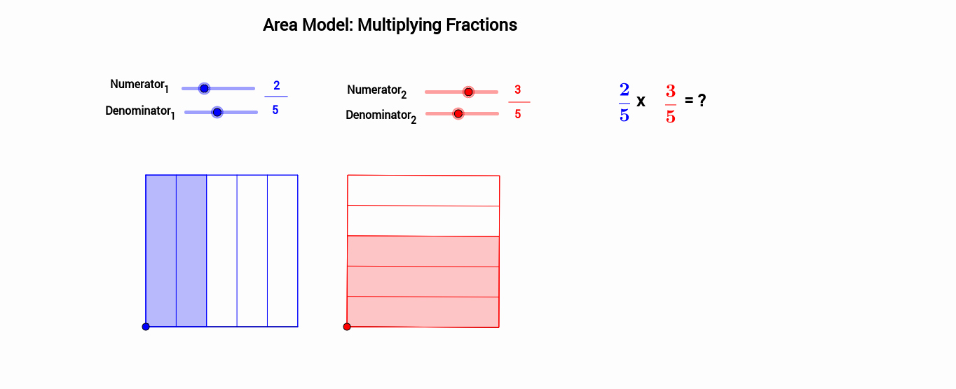 Multiplying Fractions area Model Worksheet New area Model Multiplying Fractions Geogebra