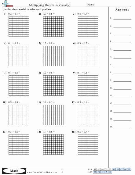 Multiplying Fractions area Model Worksheet New Mon Core Worksheets … 5th Grade Math