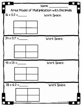 Multiplying Fractions area Model Worksheet Unique 5 Nbt B 7 area Model with Multiplication Of Decimals