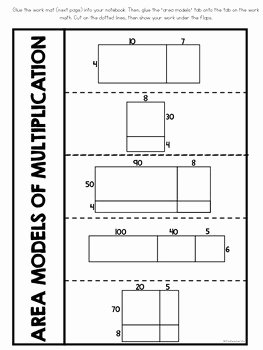 Multiplying Fractions area Model Worksheet Unique area Model Multiplication Interactive Notebook by Its A
