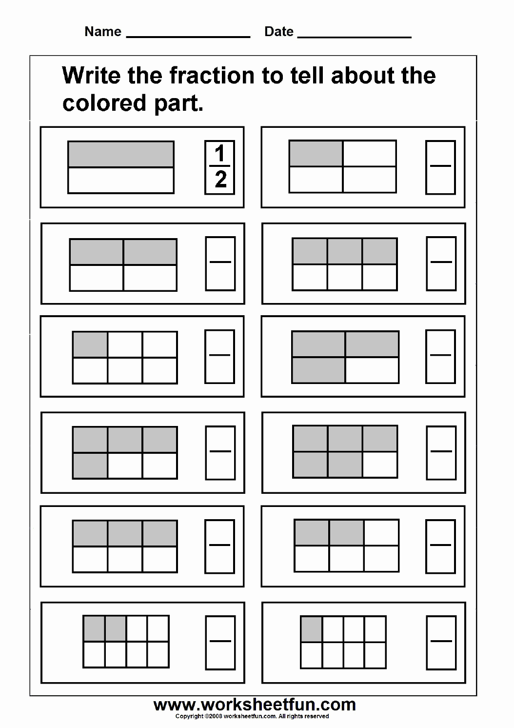 Multiplying Fractions area Model Worksheet Unique Fraction – Model – 3 Worksheets Free Printable
