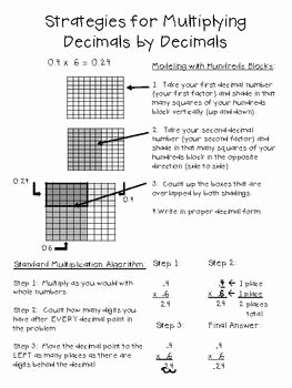 Multiplying Fractions Using Models Worksheet Best Of Multiplying Decimals Using Visual Models Poster Freebie