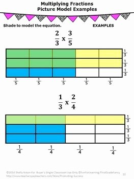 Multiplying Fractions Using Models Worksheet Lovely Multiplying Fractions 5th Grade Math and 5th Grades On