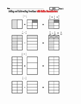 Multiplying Fractions Using Models Worksheet Luxury Adding Fractions Using Models Worksheets the Best