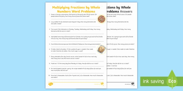 Multiplying Fractions Word Problems Worksheet Beautiful New Multiplying Fractions by whole Numbers Word