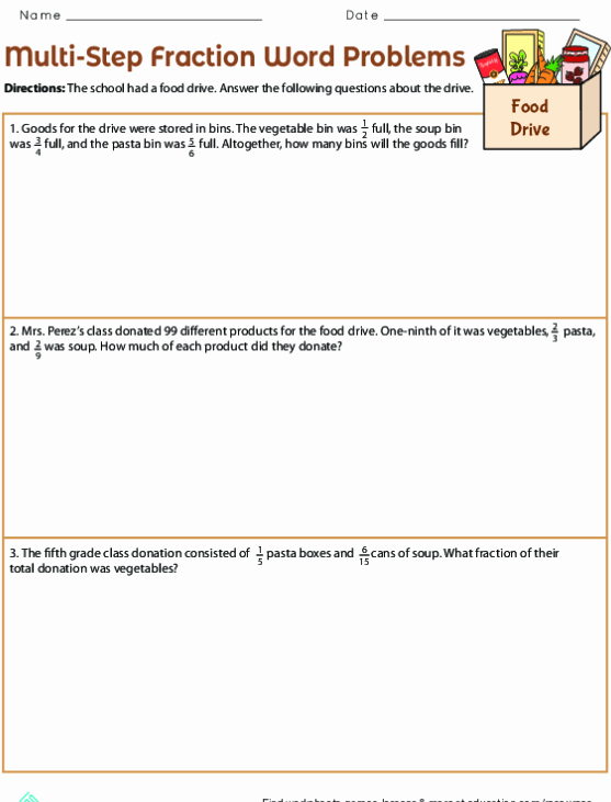 Multiplying Fractions Word Problems Worksheet Unique Fraction Multiplication Word Problems