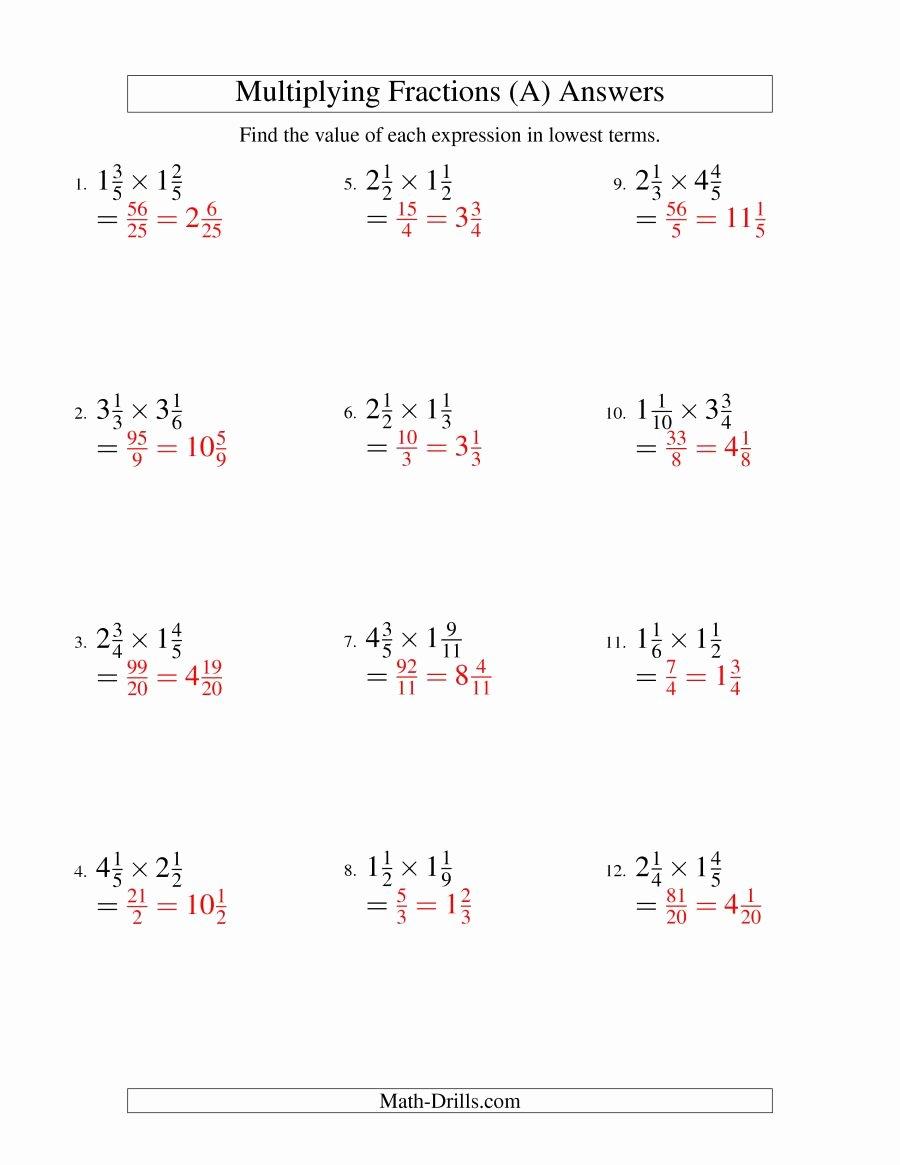 Multiplying Mixed Fractions Worksheet Fresh Multiply Mixed Fractions Worksheet Worksheet Mogenk