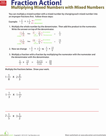 Multiplying Mixed Numbers Worksheet Awesome How to Multiply Mixed Numbers by Mixed Numbers
