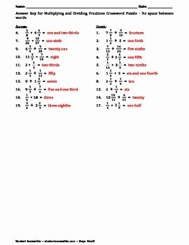 Multiplying Mixed Numbers Worksheet Lovely Multiplying & Dividing Fractions and Mixed Numbers