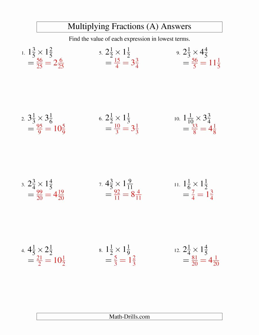 Multiplying Mixed Numbers Worksheet New Multiply Mixed Fractions Worksheet Worksheet Mogenk