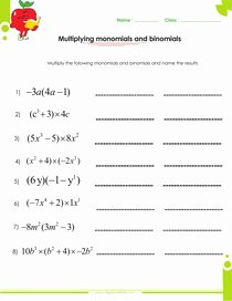 Multiplying Monomials Worksheet Answers Elegant Adding and Subtracting Polynomials Worksheets with Answers