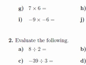 Multiplying Negative Numbers Worksheet Best Of Multiplying and Dividing Integers Worksheets with Answers