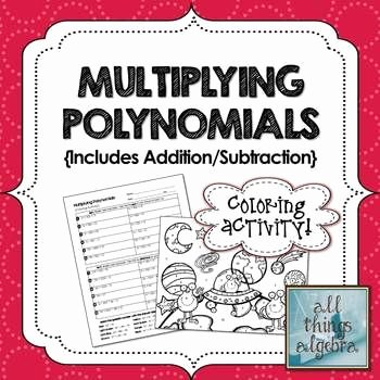 Multiplying Polynomials Worksheet 1 Answers Beautiful Multiplying Polynomials Foil Coloring Activity