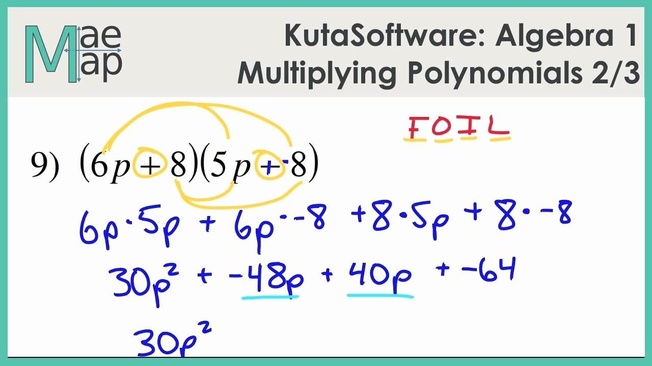 Multiplying Polynomials Worksheet 1 Answers Beautiful Printables Of Multiplying Polynomials Worksheet Kuta