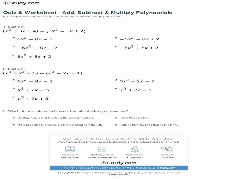 Multiplying Polynomials Worksheet Answers Best Of Simplifying Polynomials Worksheet Free Printable Worksheets
