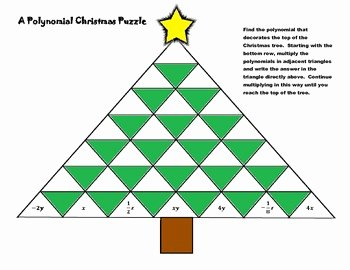 Multiplying Polynomials Worksheet Answers New A Polynomial Christmas Puzzle [multiplying Polynomials