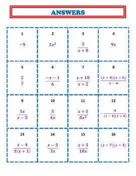 Multiplying Rational Expression Worksheet Beautiful Multiplying and Dividing Rational Expressions Activity by