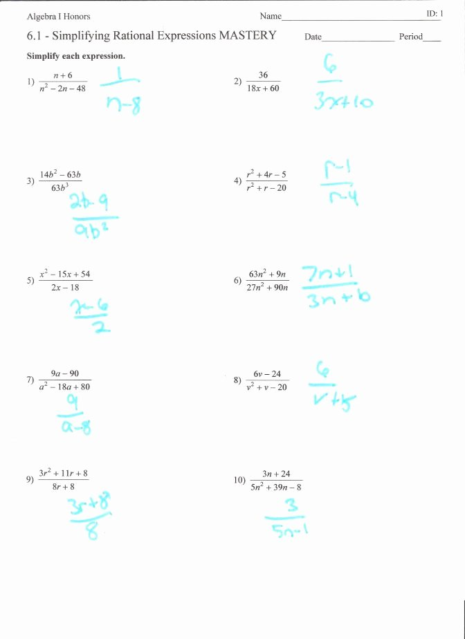 Multiplying Rational Expressions Worksheet Awesome Multiplying and Dividing Rational Expressions Worksheet