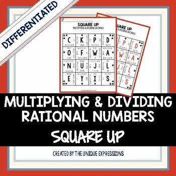 Multiplying Rational Numbers Worksheet Lovely Multiplying & Dividing Rational Numbers Puzzle Decimals