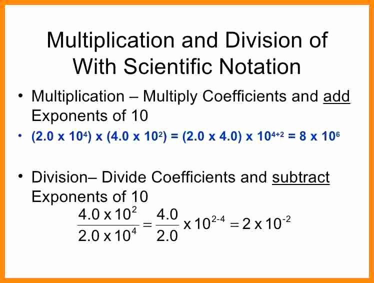 Multiplying Scientific Notation Worksheet Awesome Adding Subtracting Multiplying and Dividing Scientific
