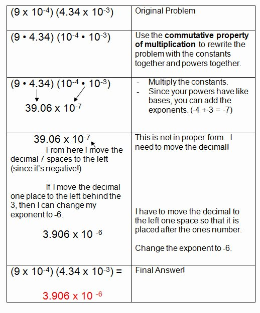 Multiplying Scientific Notation Worksheet Awesome Multiplying and Dividing Scientific Notation Worksheet